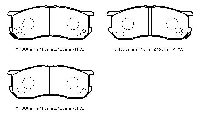0 series - daihatsu (brake pad)